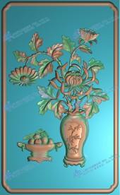 菊花花瓶背板a
