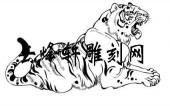 虎3-矢量图-鹰瞵虎视-111-虎路径图