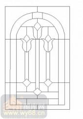 喷砂玻璃-12镶嵌-几何花纹-00006