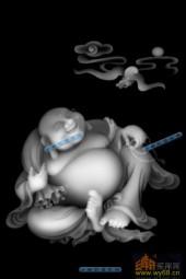 小佛-大肚罗汉-019-浮雕灰度图