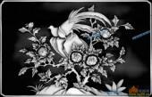03-野雉-002-花鸟灰度图案