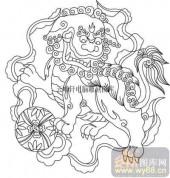 100个中国传统吉祥图-矢量图-龙鸣狮吼-B-029-吉祥图案
