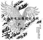 名家画鹰-矢量图-bc傲雪图-矢量鹰