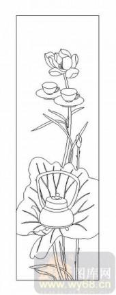 02古文化系列-荷塘茶趣-00045-雕刻玻璃图案
