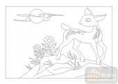 03动物系列-鹿-00059-玻璃门