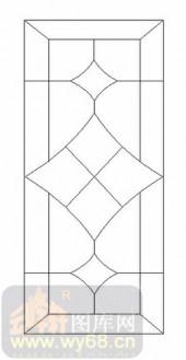 玻璃门-12镶嵌-艺术图形-00011