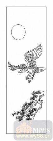 01传统系列-鹰心雁爪-00049-喷砂玻璃图库
