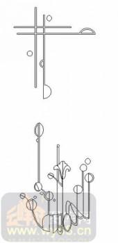 雕刻玻璃-08四扇门(4)-艺术花-00034