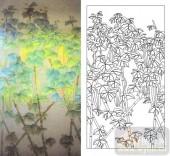 艺术玻璃图-肌理雕刻系列1-风树-00054