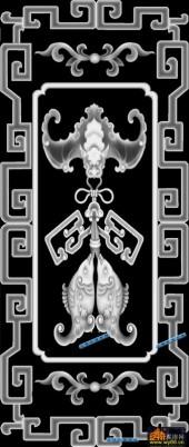 鱼图-双鱼-038-蝙蝠鱼灰度图案