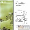 11传统花草鱼鸟门窗-远山-00102-玻璃门