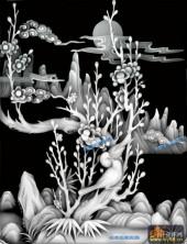 四季花鸟-梅花330-430-四季花鸟综合灰度图