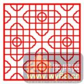 中式镂空装饰001-艺术花朵-中式镂空装饰001-023-镂空效果