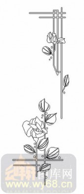 玻璃雕刻-08四扇门(4)-枝蔓-00063