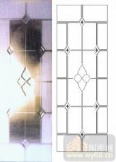 艺术玻璃图库-浮雕贴片-花纹-00040