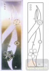 雕刻玻璃-浮雕贴片-花朵-00067
