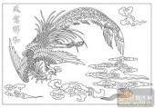 凤-白描图-凤驾祥和-huangf036-凤白描