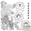 凤-矢量图-凤朝莲花-huangf005-凤凰图案