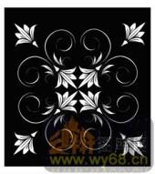 镂空装饰组合式-典雅花卉-镂空装饰组合式-047-玄关隔断