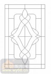 喷砂玻璃-12镶嵌-几何花纹-00005