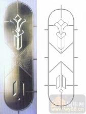 装饰玻璃-浮雕贴片-花纹-00058