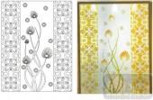2011设计艺术玻璃刻绘-抽象花-装饰玻璃