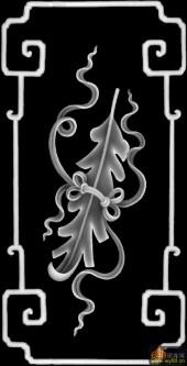 八仙图-芭蕉扇-侧下肚-八仙浮雕灰度图