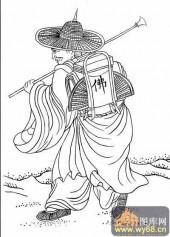 18罗汉3-白描图-罗汉5-罗汉雕刻图片
