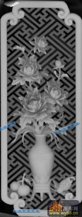 01-花瓶-012-花鸟精雕灰度图