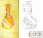 05肌理雕刻系列样图-东汉彩瓶-00088-雕刻玻璃图案