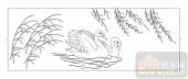 03动物系列-两只天鹅-00022-艺术玻璃图库