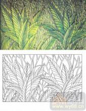 装饰玻璃-肌理雕刻系列1-灌木丛-00143
