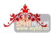 中式镂空装饰001-艺术花卉-中式镂空装饰001-053-镂空隔断效果图