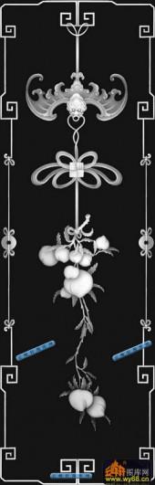 02-蝙蝠献寿-022-雕刻灰度图