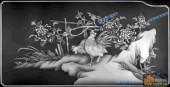 03-山菊-033-花鸟灰度图案