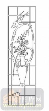 玻璃雕刻-06四扇门(2)-花瓶-00049
