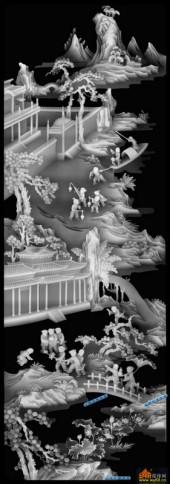 百子图002-扇面童子-扇2_2-百子图浮雕图库