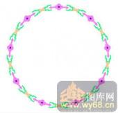122种圆形边框矢量-规圆矩方-120种圆形边框矢量-020-中式花纹