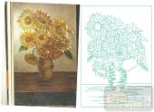 2011设计艺术玻璃刻绘-向日葵-喷砂玻璃图库