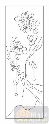 09现代装饰-秋月春花-00052-喷砂玻璃图库