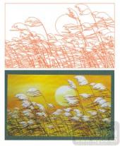 2011设计艺术玻璃刻绘-芦苇-玻璃门