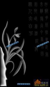 01-兰花草-007-玉雕浮雕图库