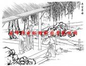 二十四孝-矢量图-23弃官寻母-中国国画矢量二十四孝图