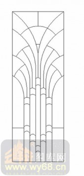 喷砂玻璃图库-12镶嵌-简约线条-00033