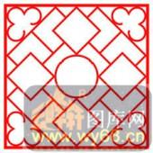 镂空装饰单式002-菱形花纹-镂空装饰单式002-024-密度板镂空隔断欧式花型