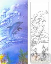 05肌理雕刻系列样图-海豚-00068-艺术玻璃图库