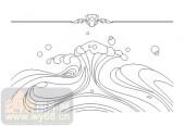 喷砂玻璃图库-11门窗组合-波浪-00087