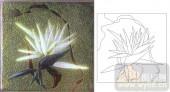喷砂玻璃图库-肌理雕刻系列1-白花-00137