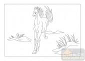 03动物系列-信马游缰-00086-艺术玻璃图库