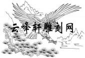 路径鹰-矢量图-侧翅三秋-aaaa7-鹰雕刻图